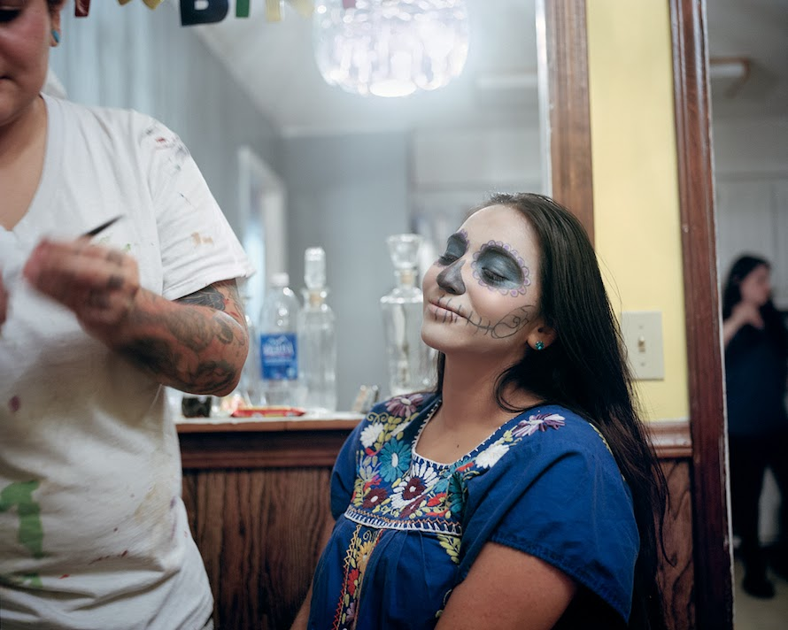 "Megan King's "" Hispanic Appalachia "" –   ""These photographs focus on Latino culture in the changing social landscape of Southern Appalachia. By photographing businesses, people, churches, homes, and other aspects of the community, I am attempting to show the importance of emerging diversity in this historically conservative region of the United States."""