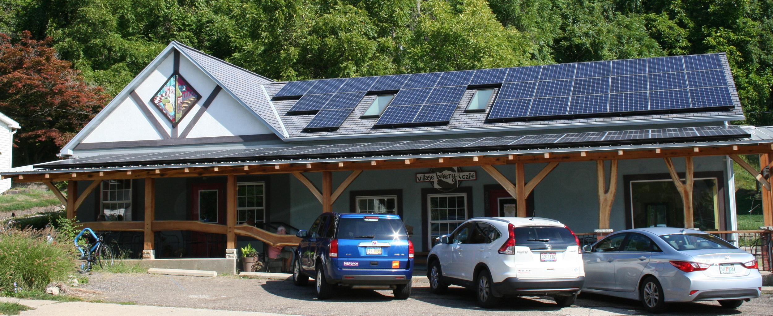 Solar installation at Village Bakery