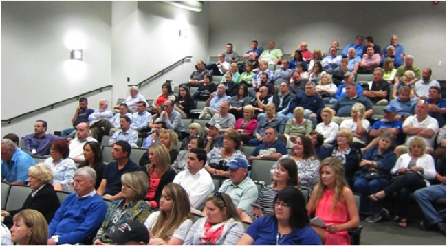 Audience of the Town Hall Candidates Forum for Mayor and Judge Executive. Photo by Robert Donnan