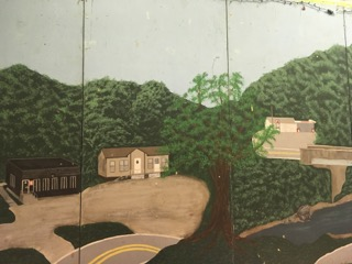 Mural painted by children in the Big Ugly Community Center, Big Ugly, WV. Photo by Katie Myers.