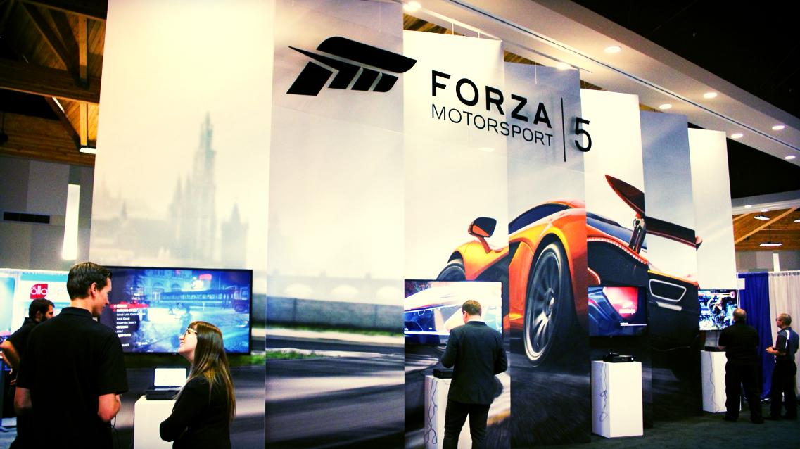 20' x 40' custom designed rental exhibit - Microsoft