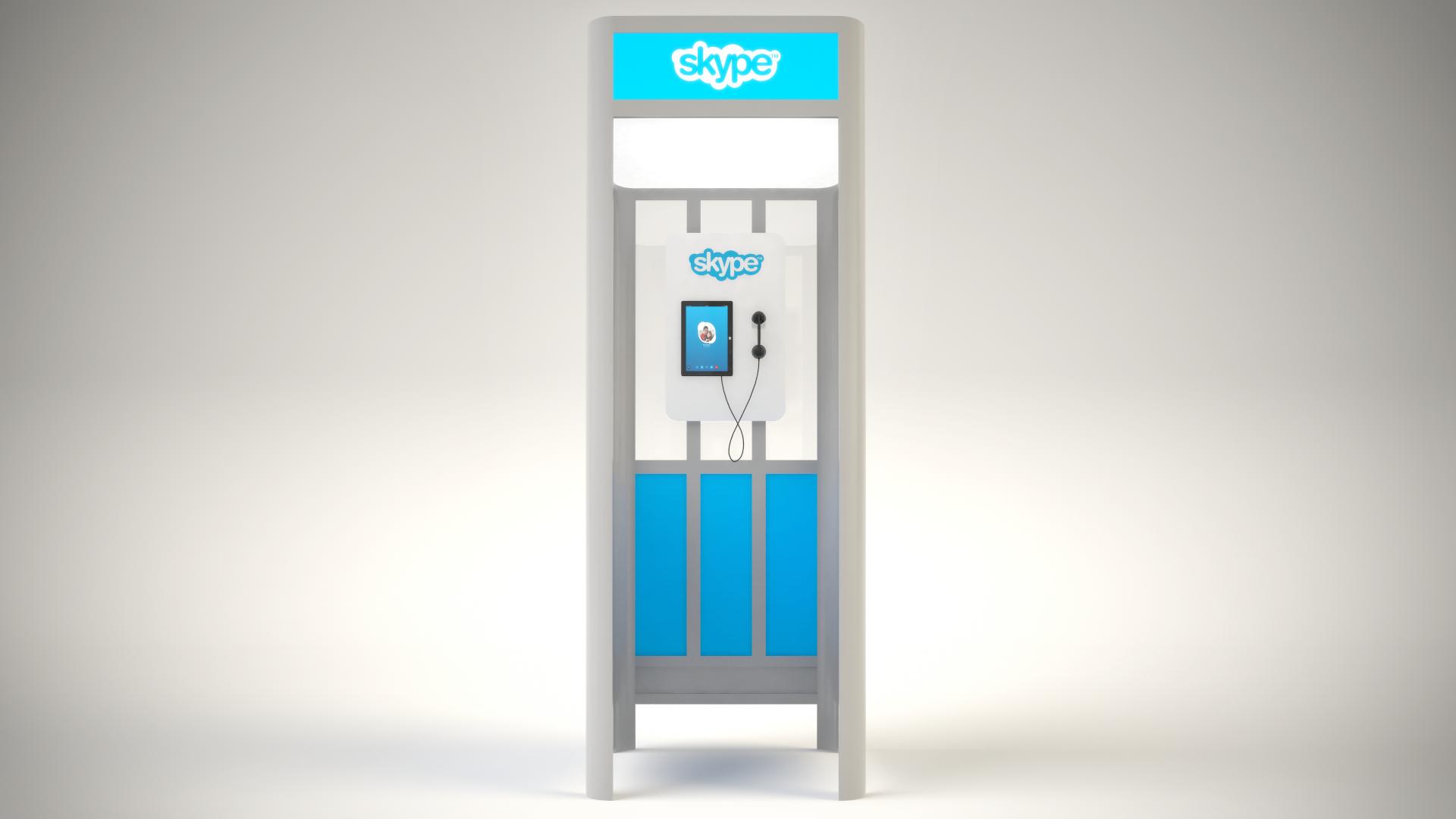 Rental kiosk built from modular Octanorm components & digital graphics
