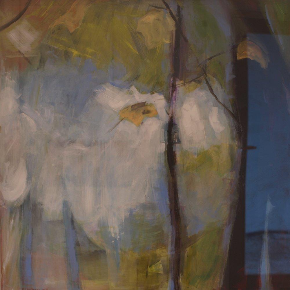 Annaghmakerrig Trees. Acrylic on board, 80cm x 80cm, 2015