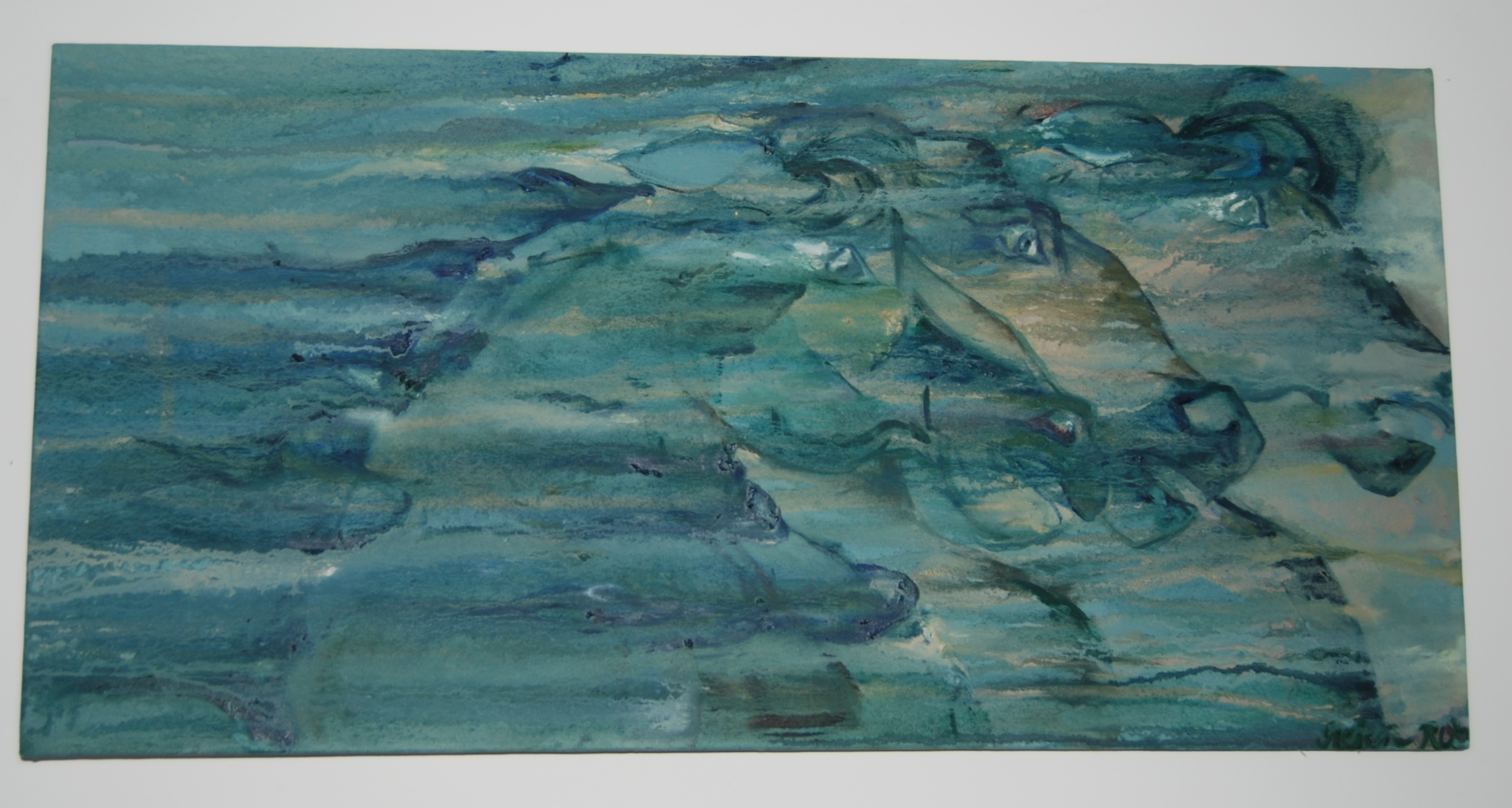 Trois  20x40 inches  Oil on Canvas