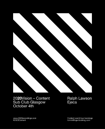 It's always an honour to play at The Sub Club in Glasgow. This time 2020 are playing the whole night with myself and Ejeca.