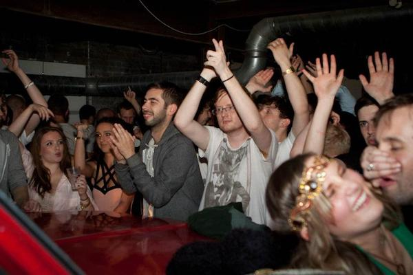 I see you baby ! Damian from Zutech / The Warehouse Project spotted by mystery girl.