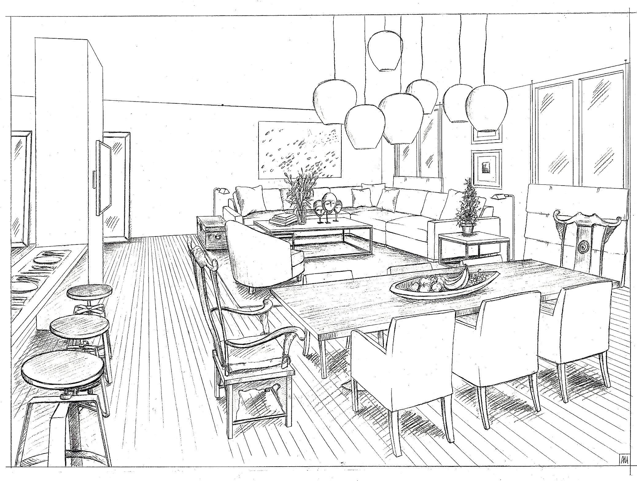 Interior Design by  Vicente Wolf Associates, Inc.