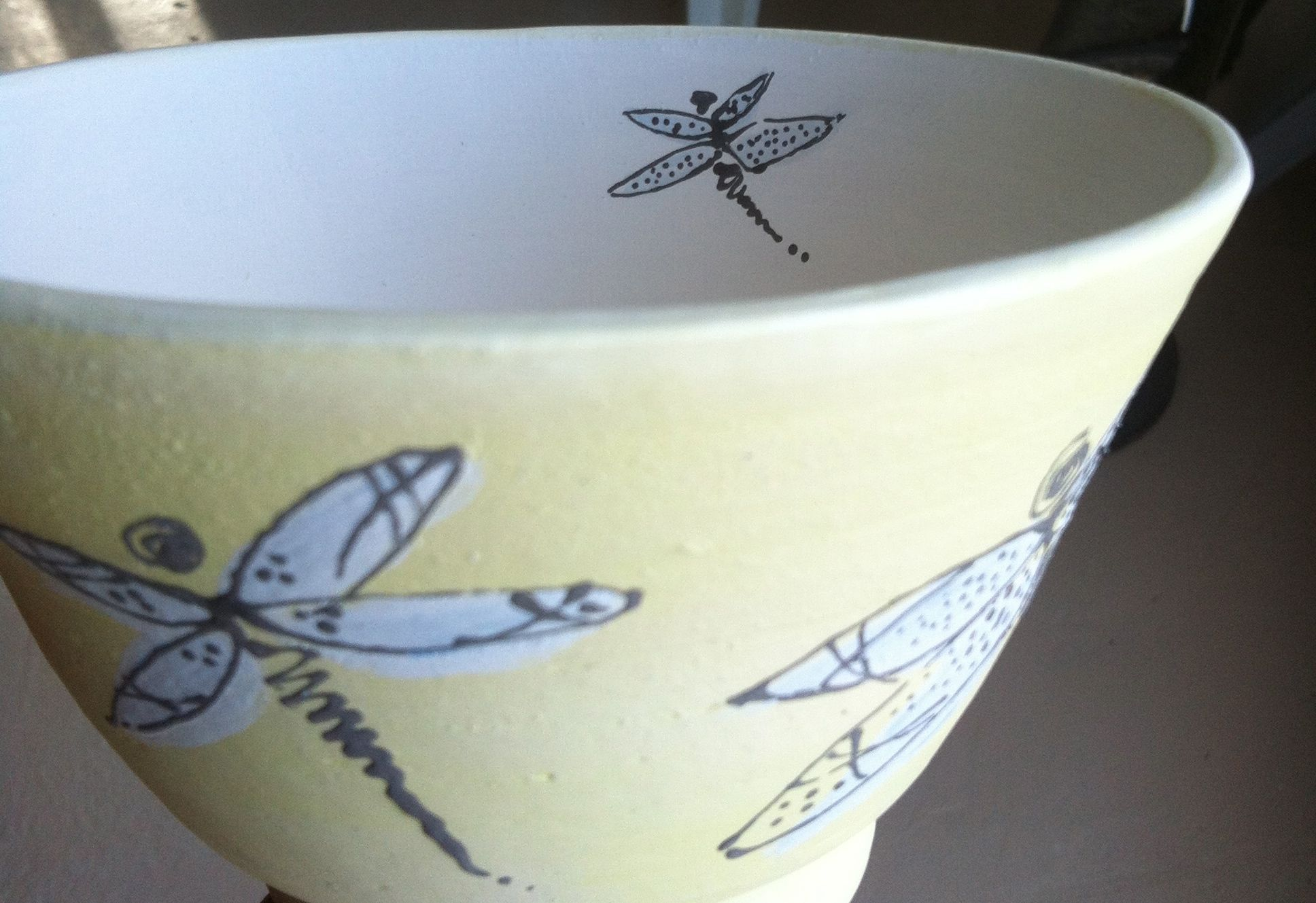 Happy Dragonfly bowl.