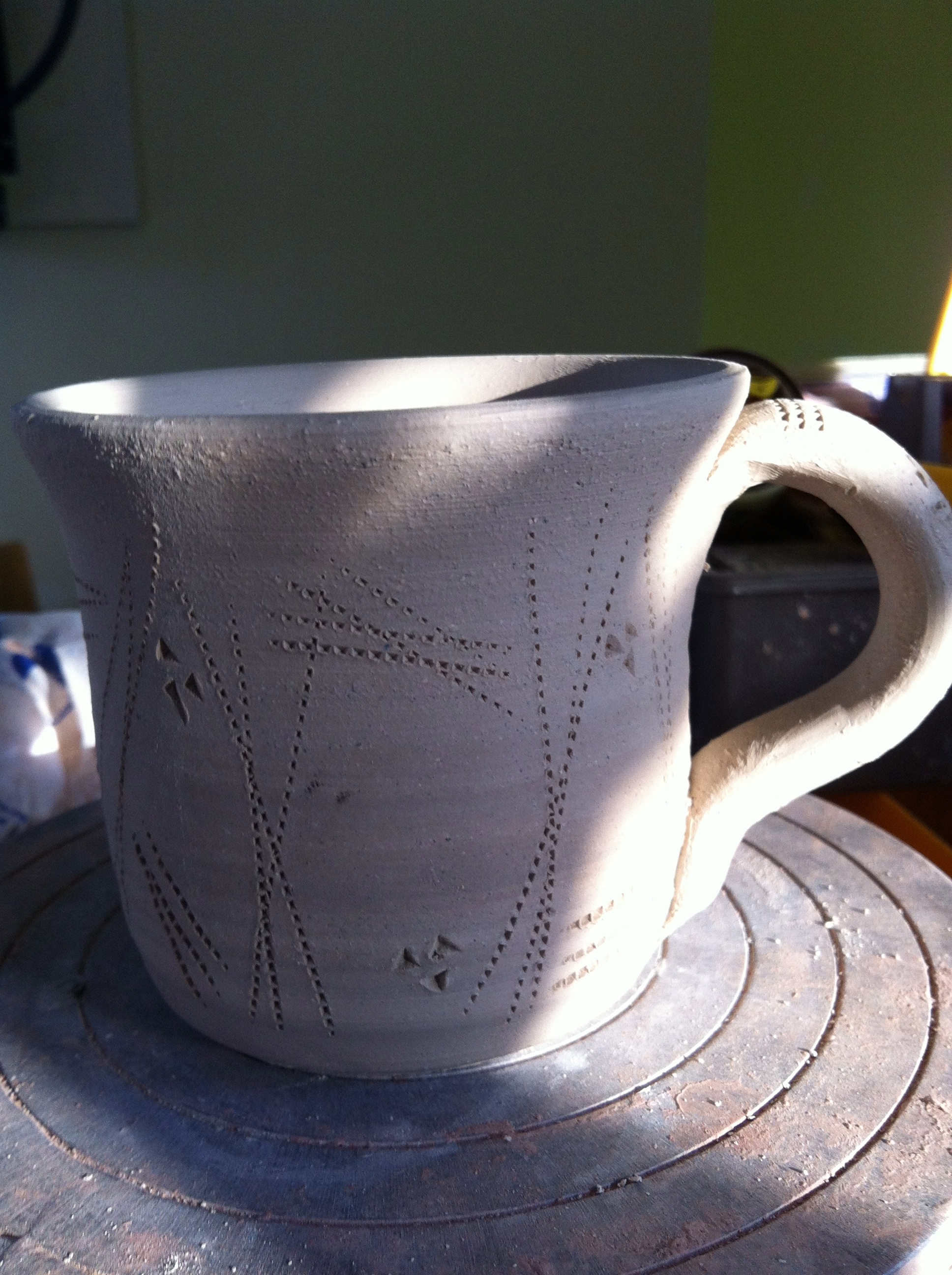One of many mugs.