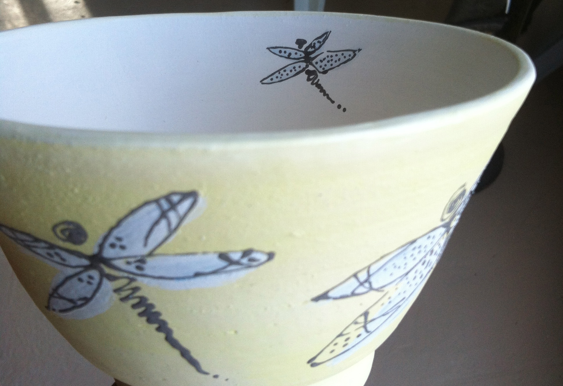 """""""Dragonfly"""" bowl. Soup, salad, snacks? You decide! Anything is great in this hand thrown ceramic bowl."""