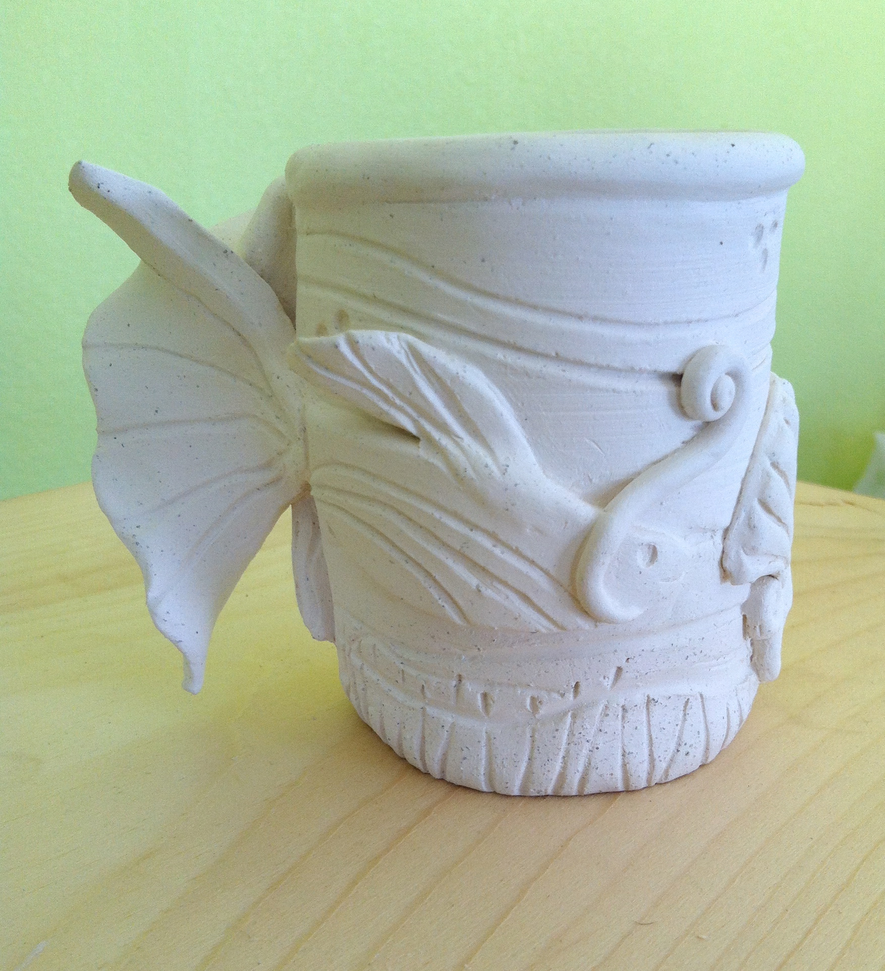 """""""Reef Buddies"""" -- Another side of this sculptured mug."""