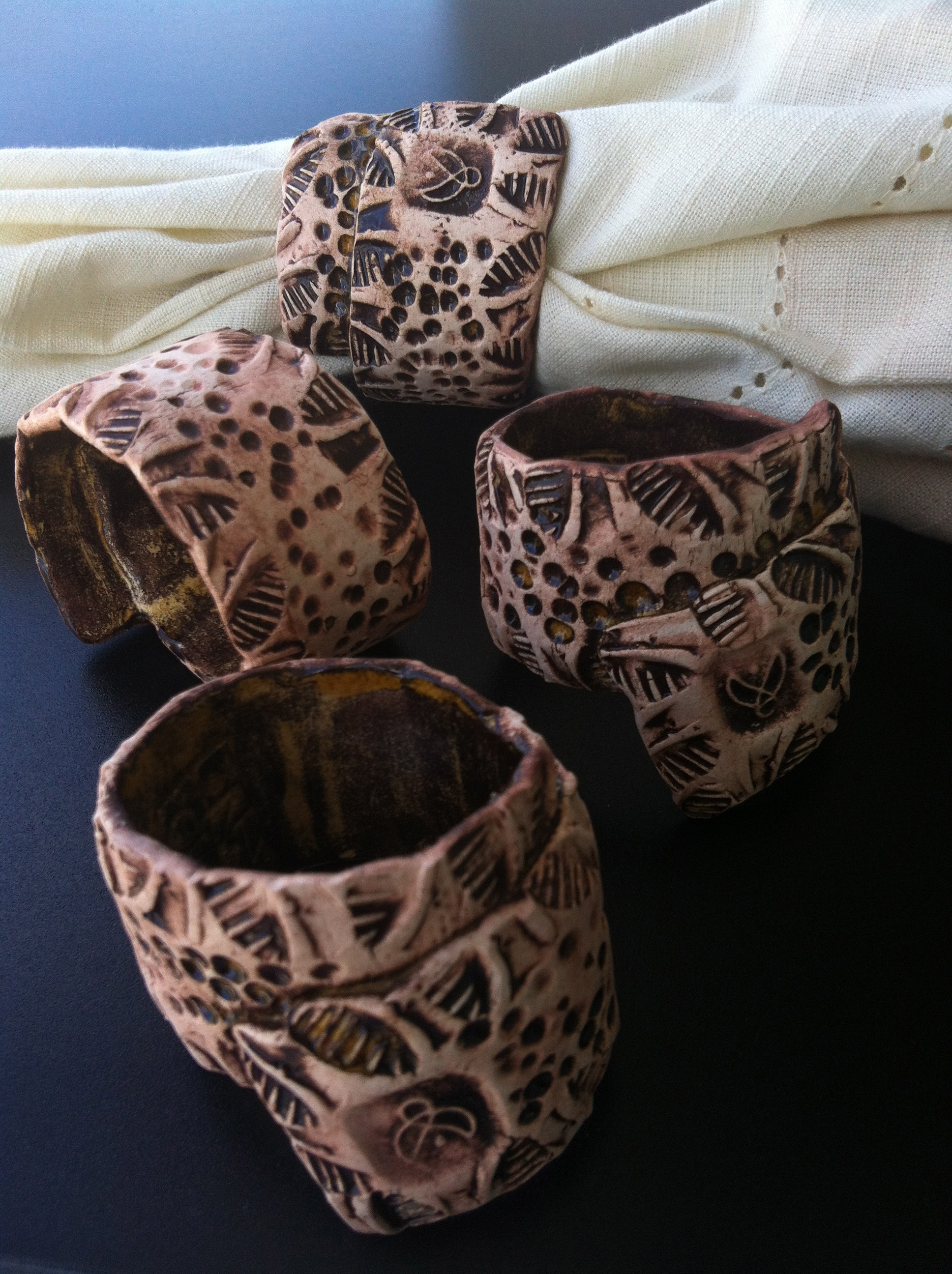 Napkin rings are like jewelry for your table. Dress up your next gathering! Or give them as a gift.