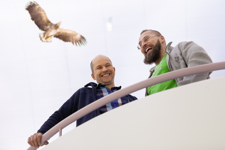 Timo Karjalainen, Laitakarin kala, (left) and Pekka Tervonen, CEE, shot for Oulu New Tech.