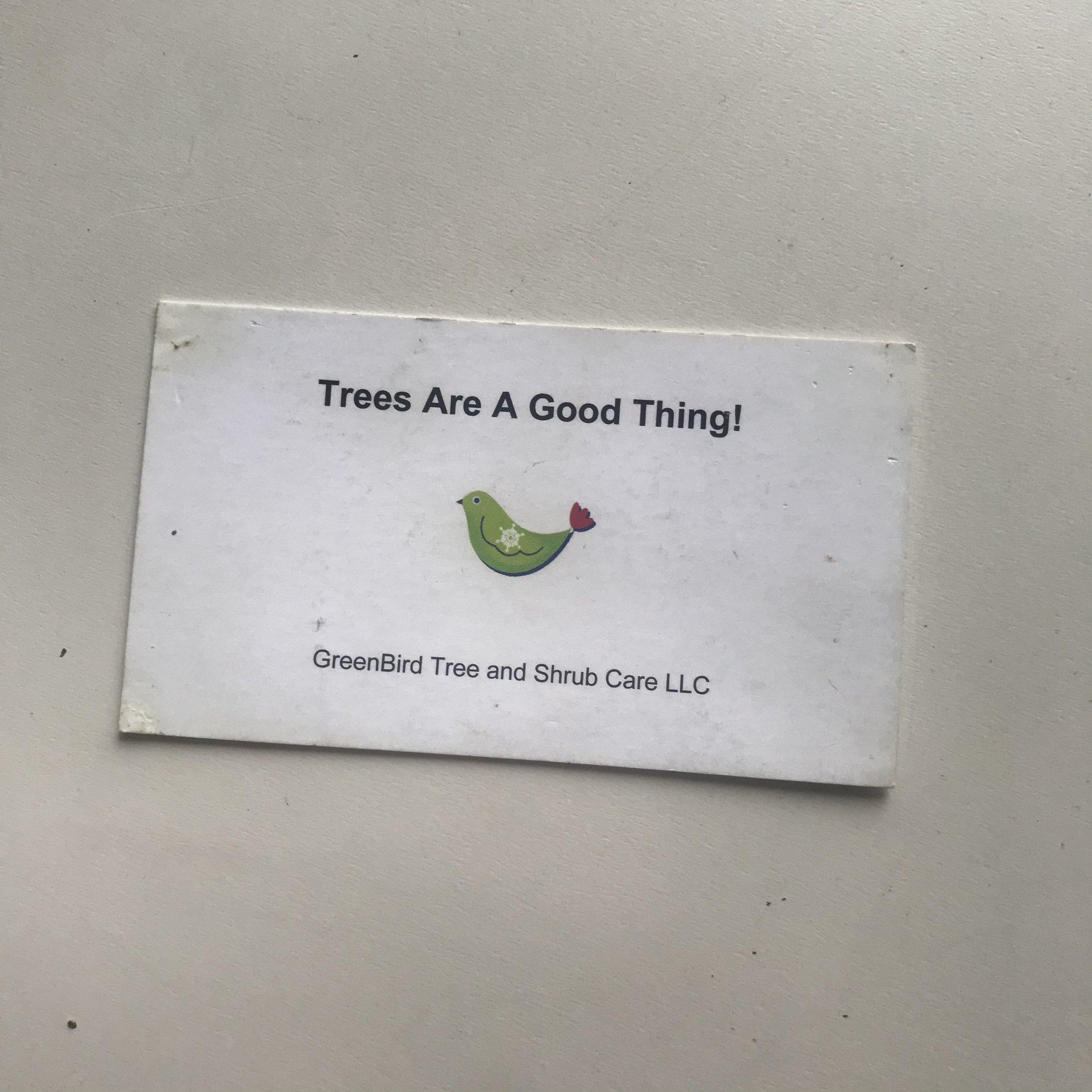 Photo: Original GreenBird Tree Care Logo