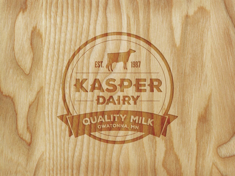 Kasper Dairy    Services:  logo creation \\ color palette + application \\ font suite + application