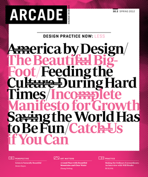 ARCADE Magazine    Spring 2012  Will Bruder interview