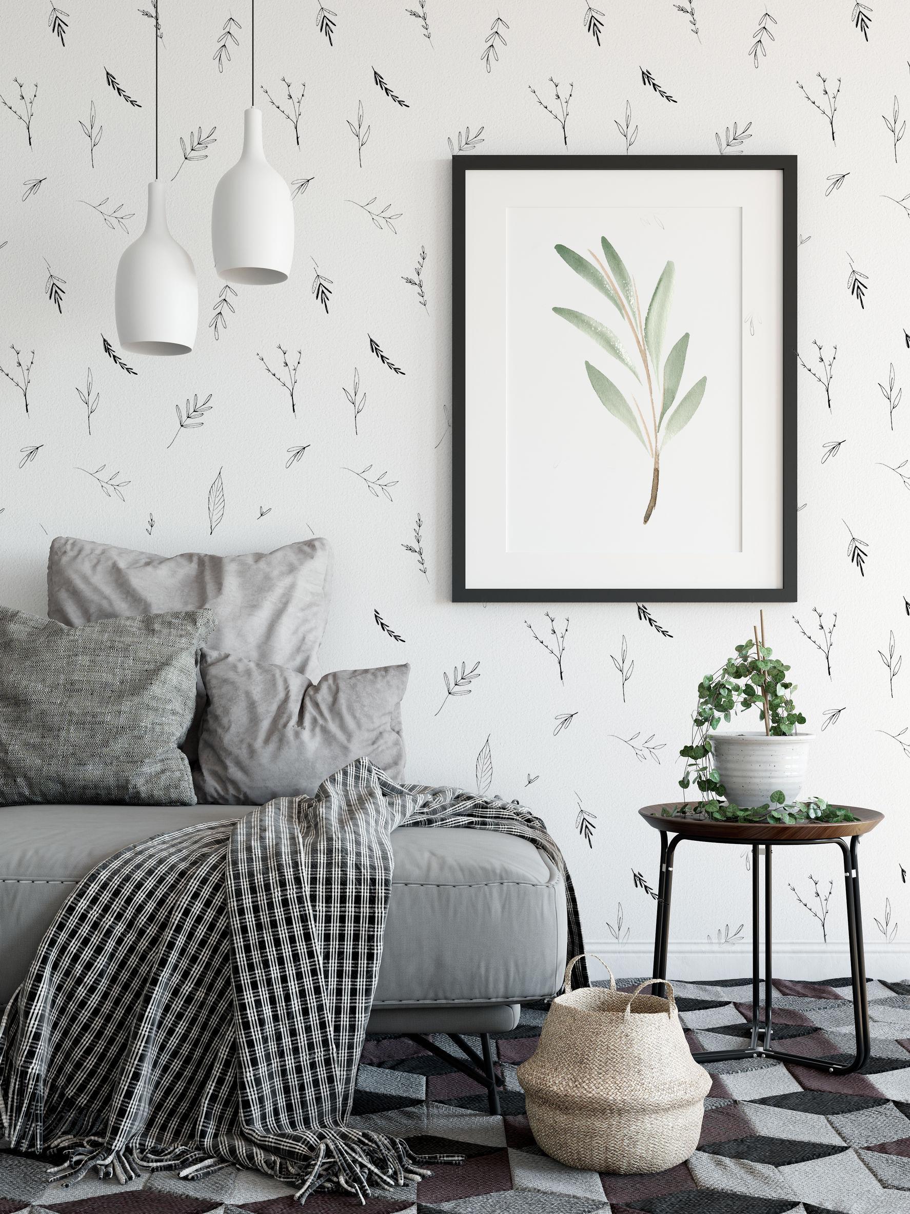 Papier peint - feuillage noir et blanc.jpg