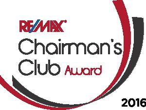 RE/MAX Chairman's Club Award 2016