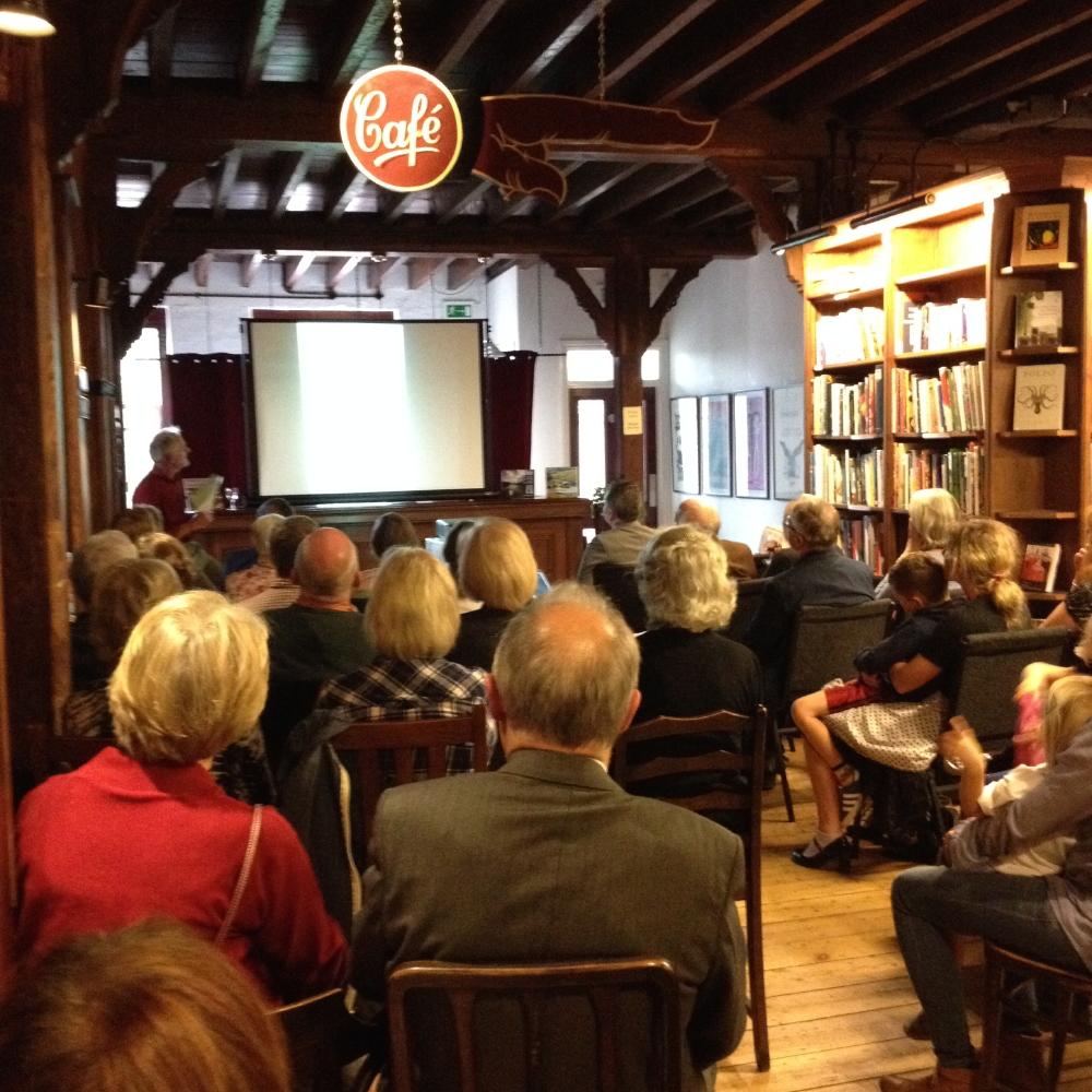 Jim Saunders talk in Booth's Bookshop