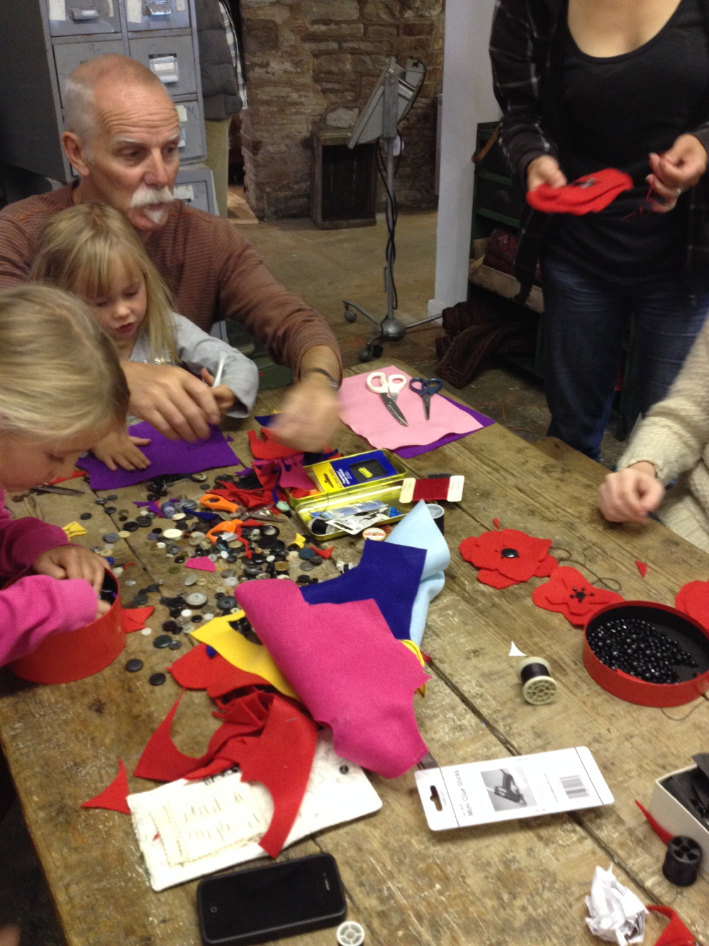 Poppy Making workshop in The Old Electric Shop