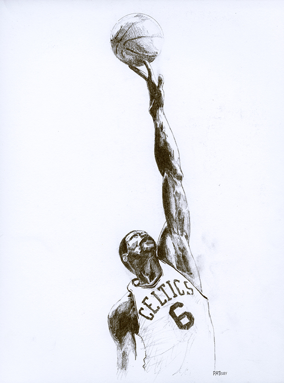 Bill Russell of the Boston Celtics | buy prints here
