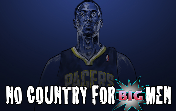 illustration of Roy Hibbert for a post published on Sports Illustrated: Extra Mustard