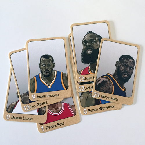 illustrated basketball cards
