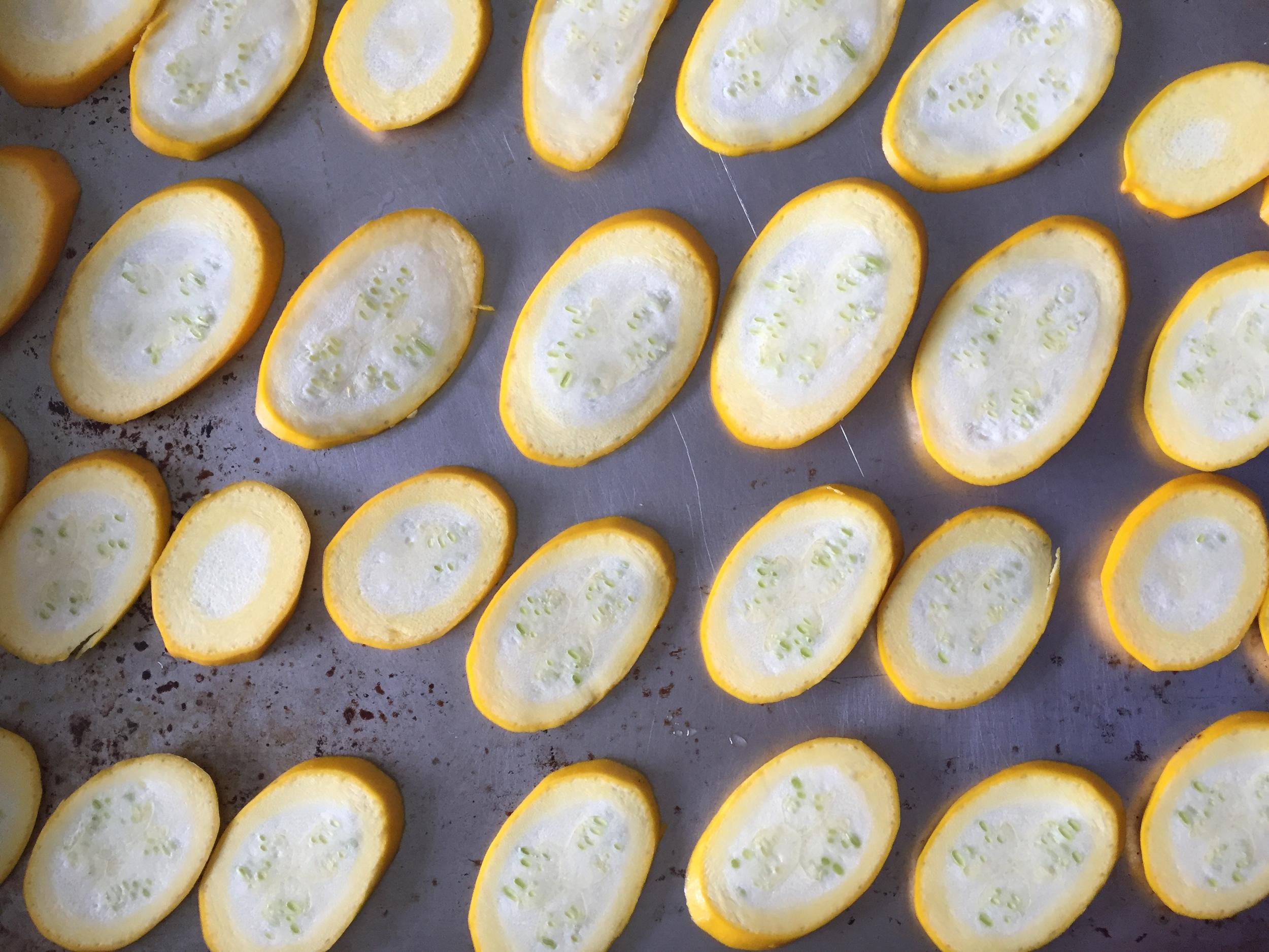 Roasting zucchini