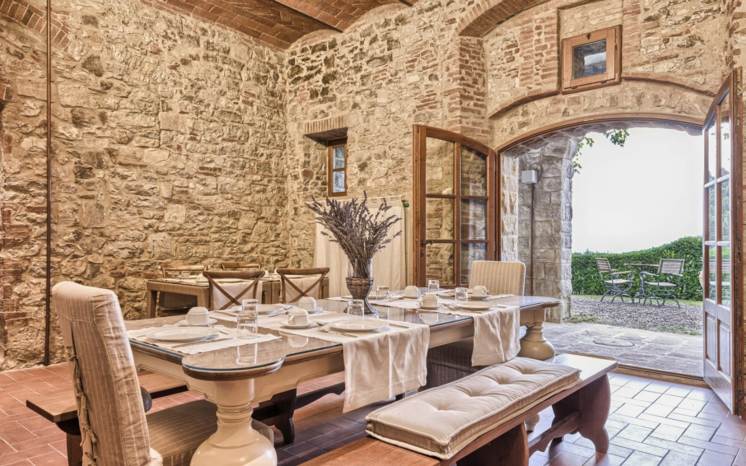 Start the day with breakfast at a charming Italian hotel - your home for the week