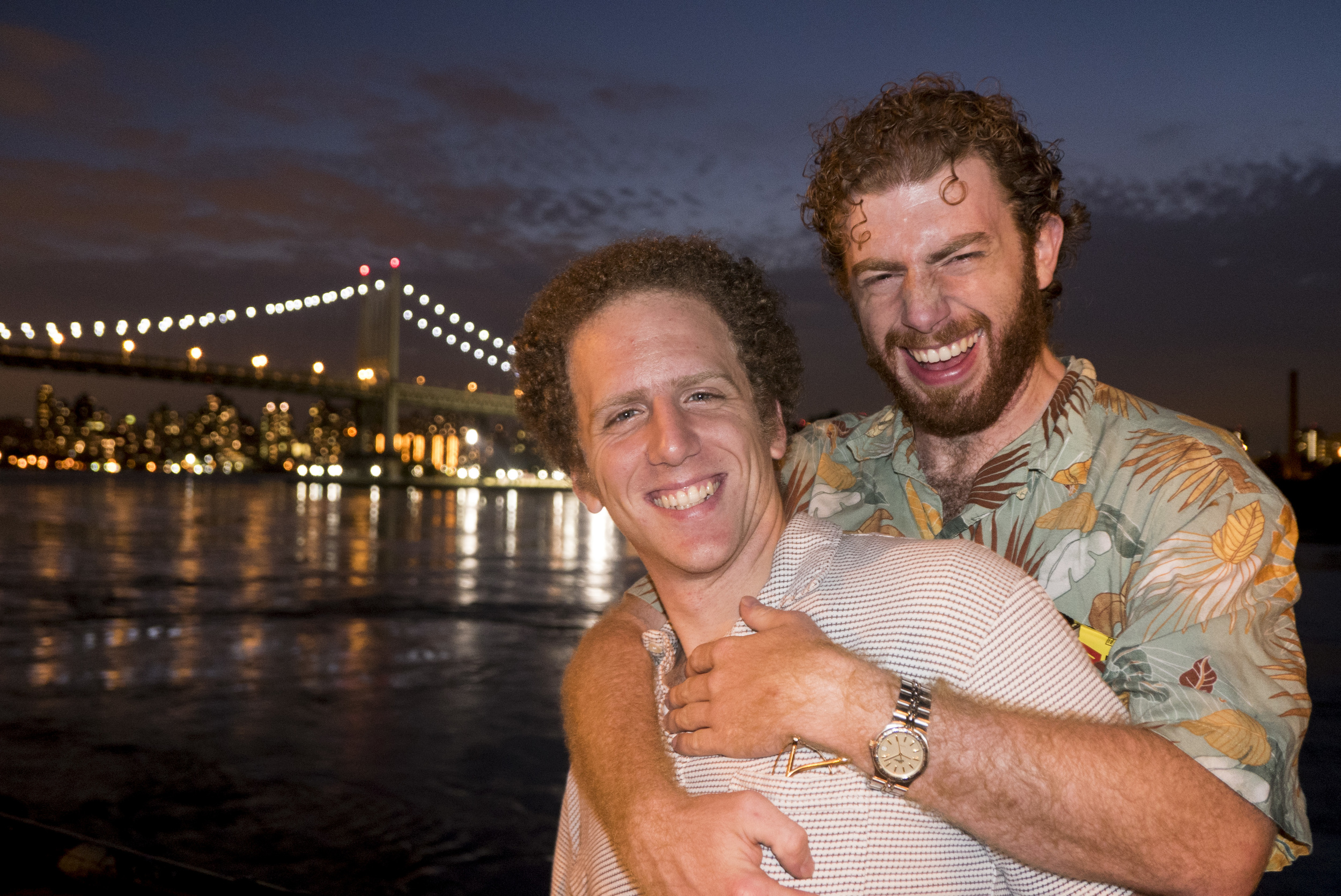 What a romantic vacation for Dan and Jeff.