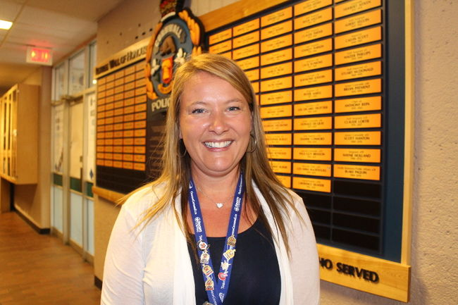 Josee Lalonde Unveils Police Retiree Wall of Honour