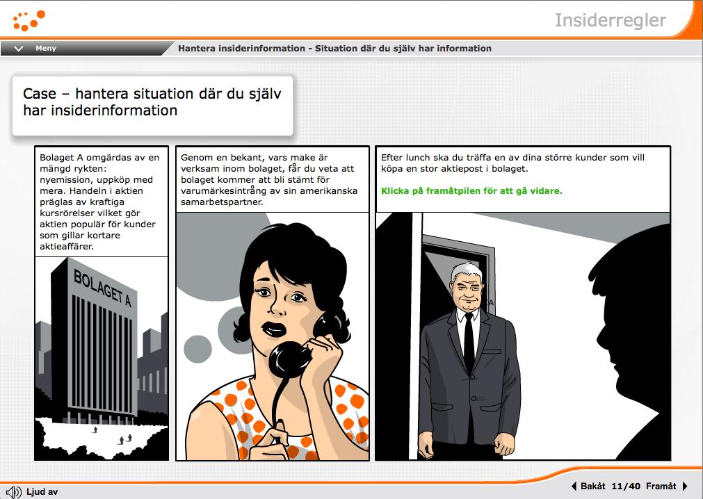 Insiderregler – utbildning för bankrådgivare