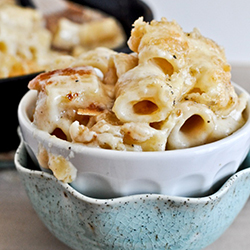 Four Cheese Mac & Cheese.