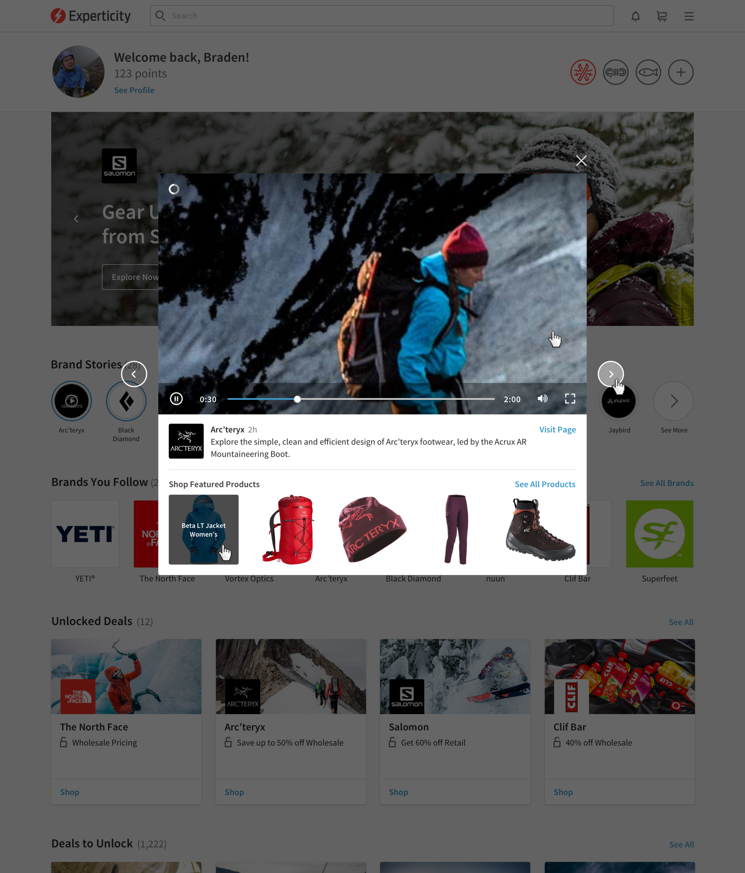 Brand Stories Video Player