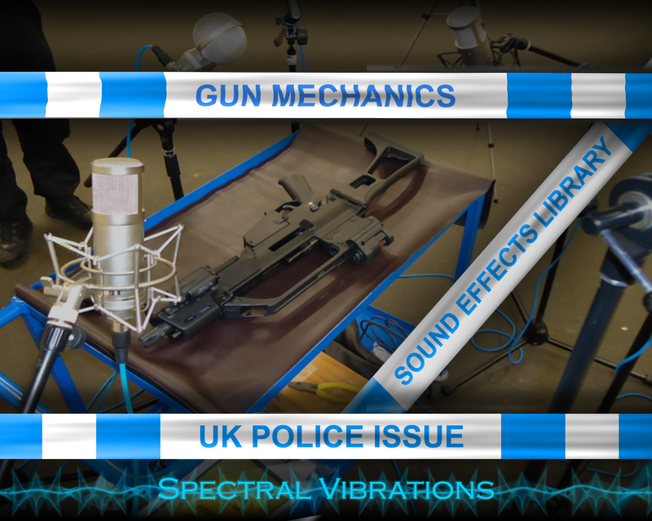 Spectral Vibrations first Sound Effects Library: Gun Mechanics: UK Police Issue