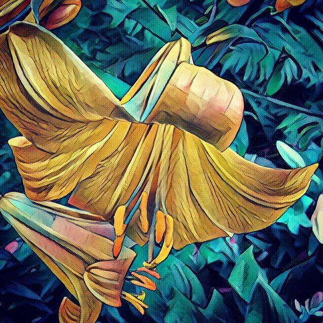 Digital painting of flowers in michigan.