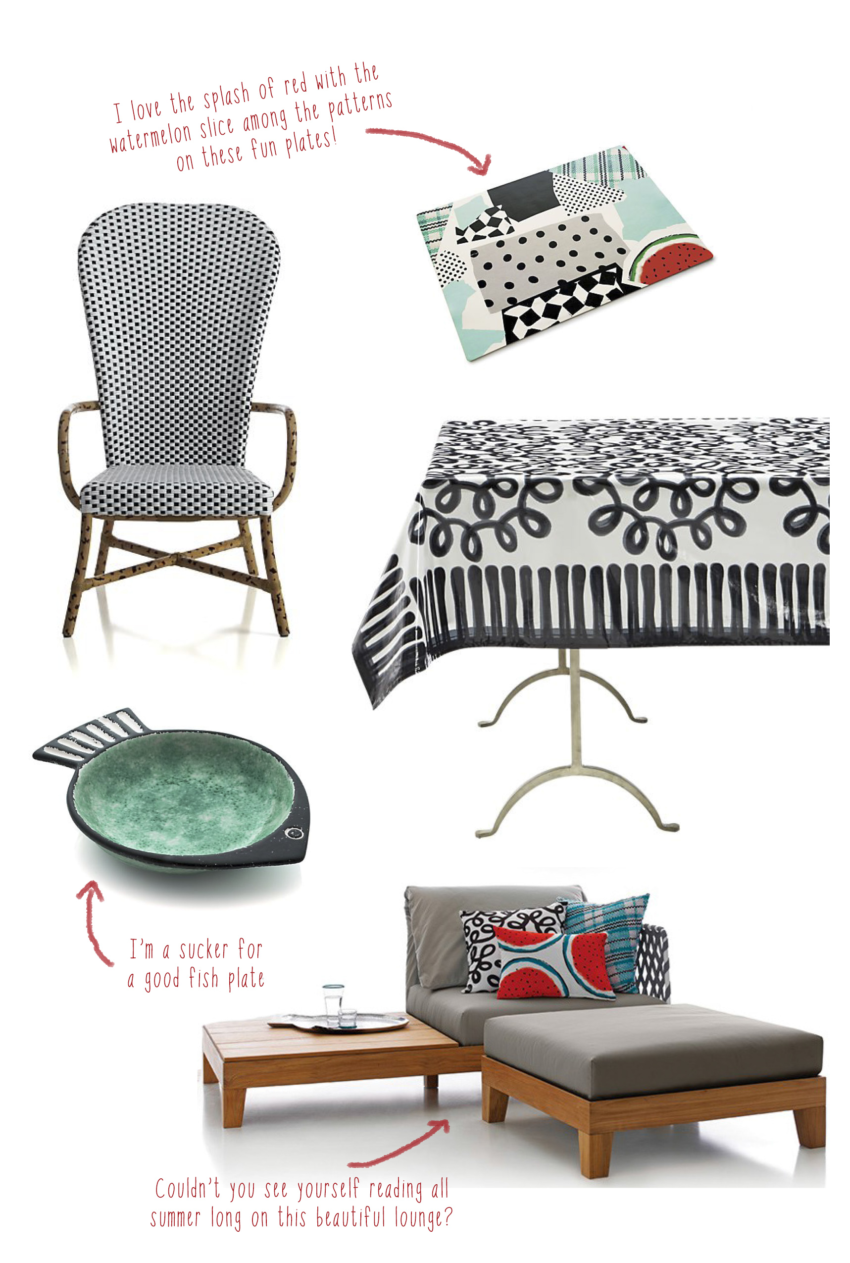 Plates  |  Chair  |  Table Cloth  |  Fish Bowl  |  Lounge