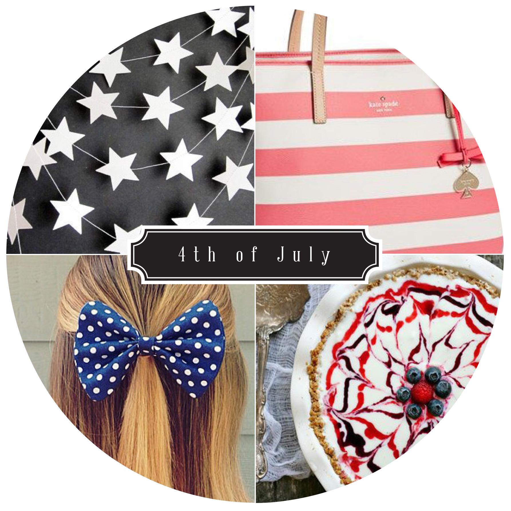 Clockwise:  Kate Spade  |  Dessert  |  Hair Bow  |  Garland