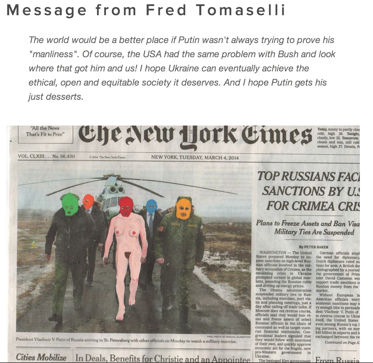 Courtesy of Fred Tomaselli via  artistssupportukraine