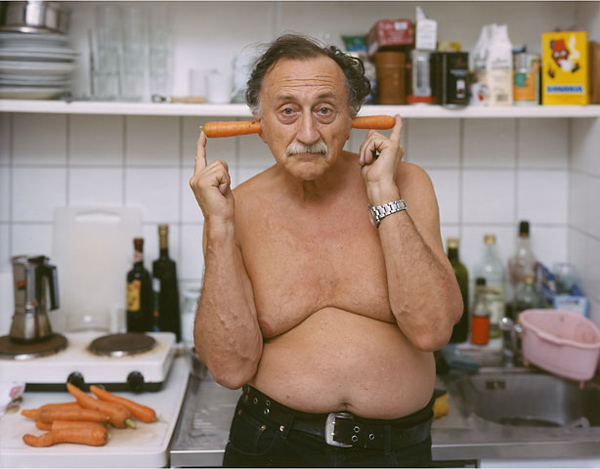 Boris Mikhailov, Berlin, Germany, 2004 (Portrait from llesphotographes.com) via http://blog.asalto.pe/boris-mikhailov-1938/