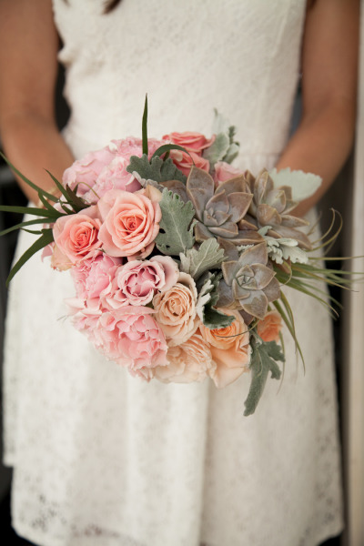 country garden bouquet with succulents by Passion Roots | weddings by Willy and Meghan| Oahu, Hawaii