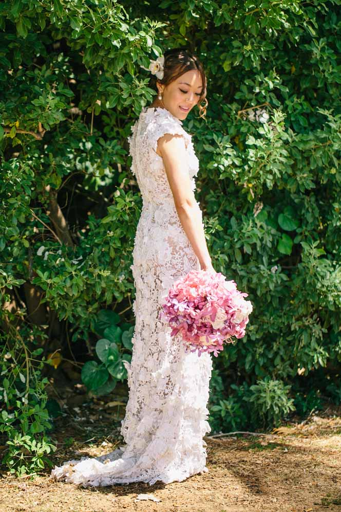 pink orchid bouquet by Passion Roots | What A Day! photography | Oahu, Hawaii