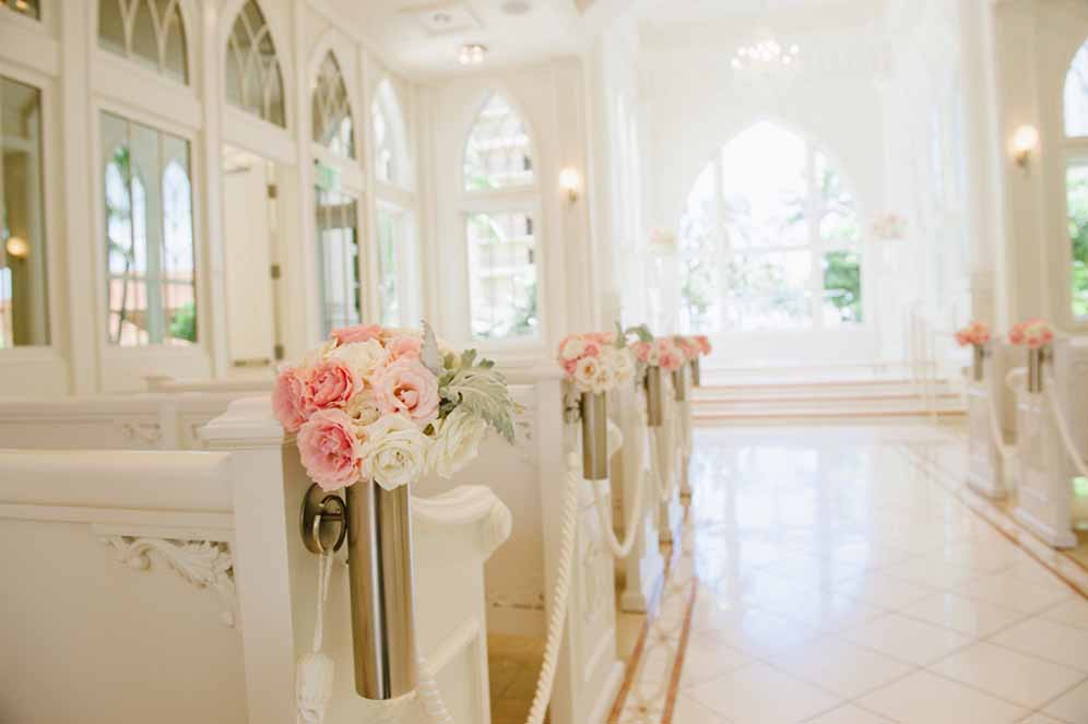 pink aisle arrangements by Passion Roots | Oahu, Hawaii