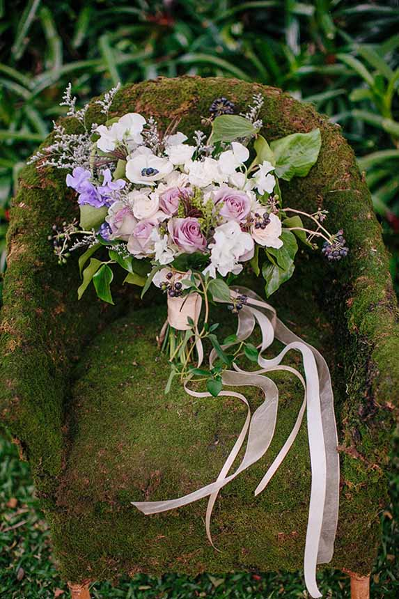 romantic purple bouquet by Passion Roots | What a Day! Photography | Oahu, Hawaii