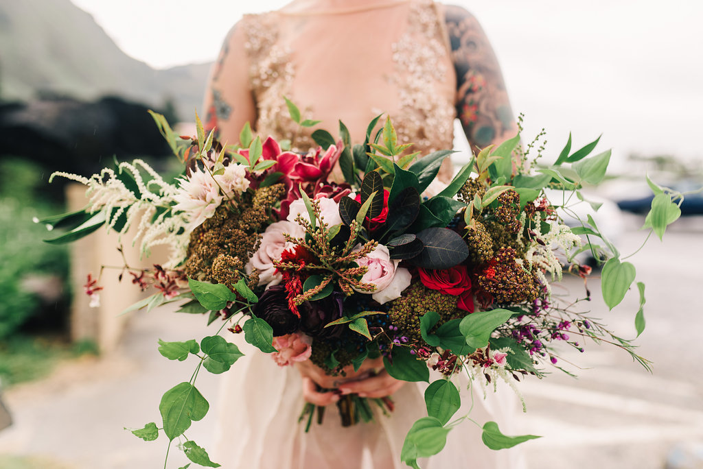bouquet florals by Passion Roots | Studio Something Photography | Oahu, Hawaii
