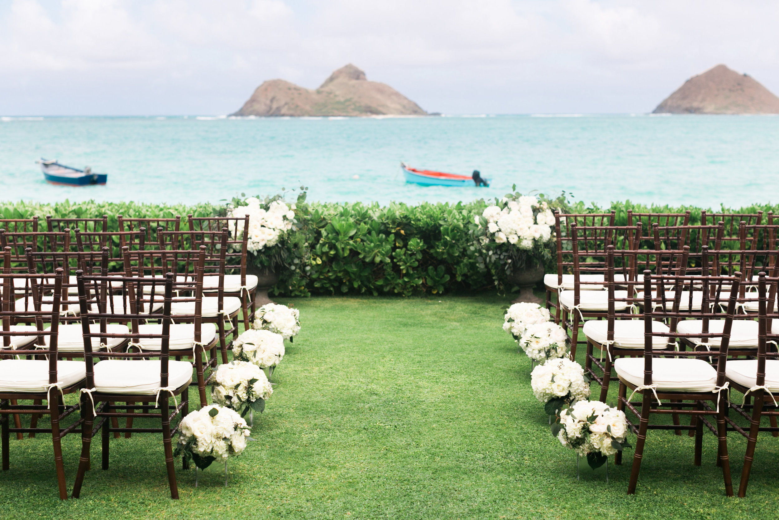 ceremony florals by Passion Roots | Oahu, Hawaii