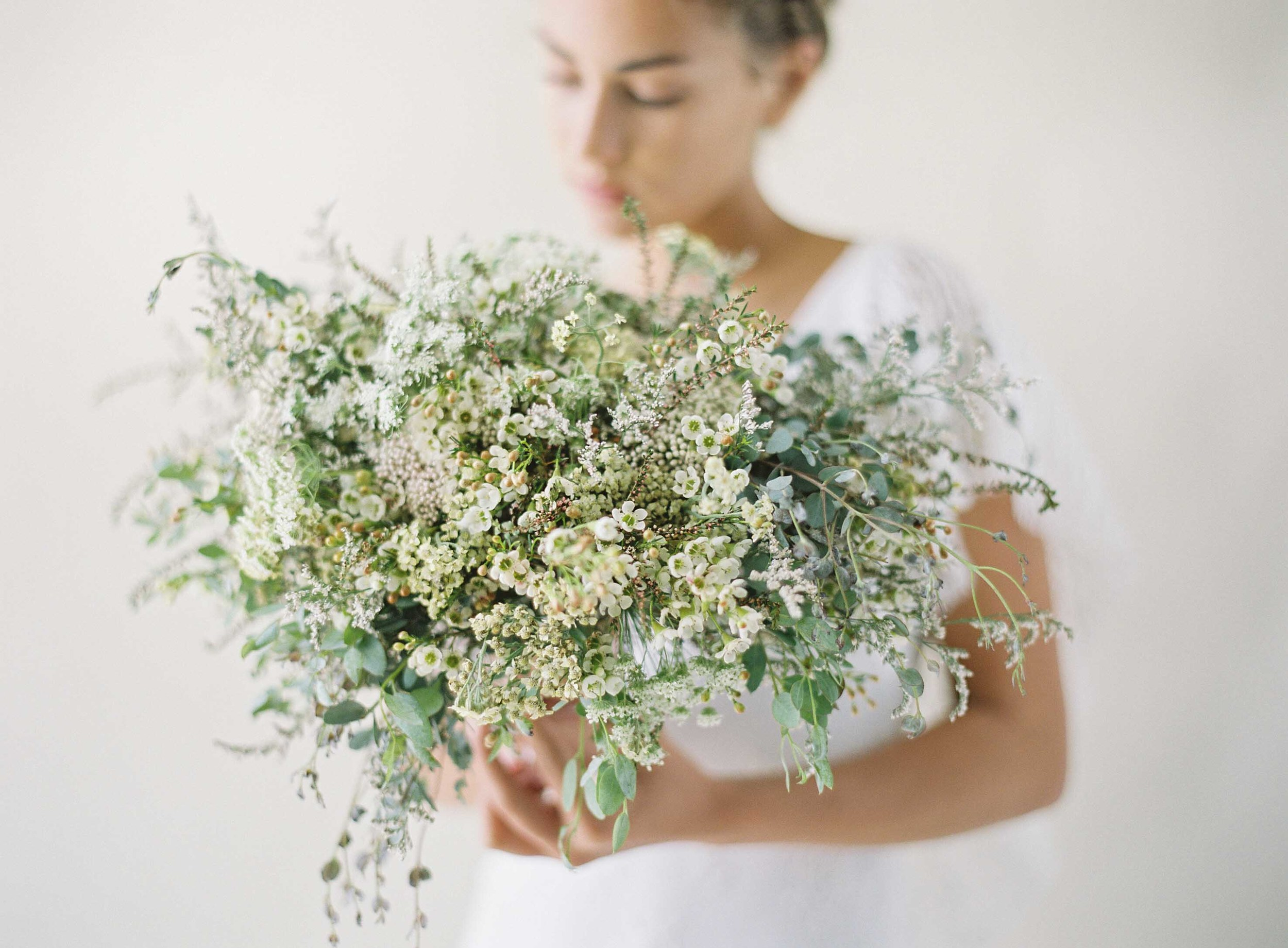 bouquet florals by Passion Roots | Christine Clark Photography | Magnolia White Dress | Oahu, Hawaii