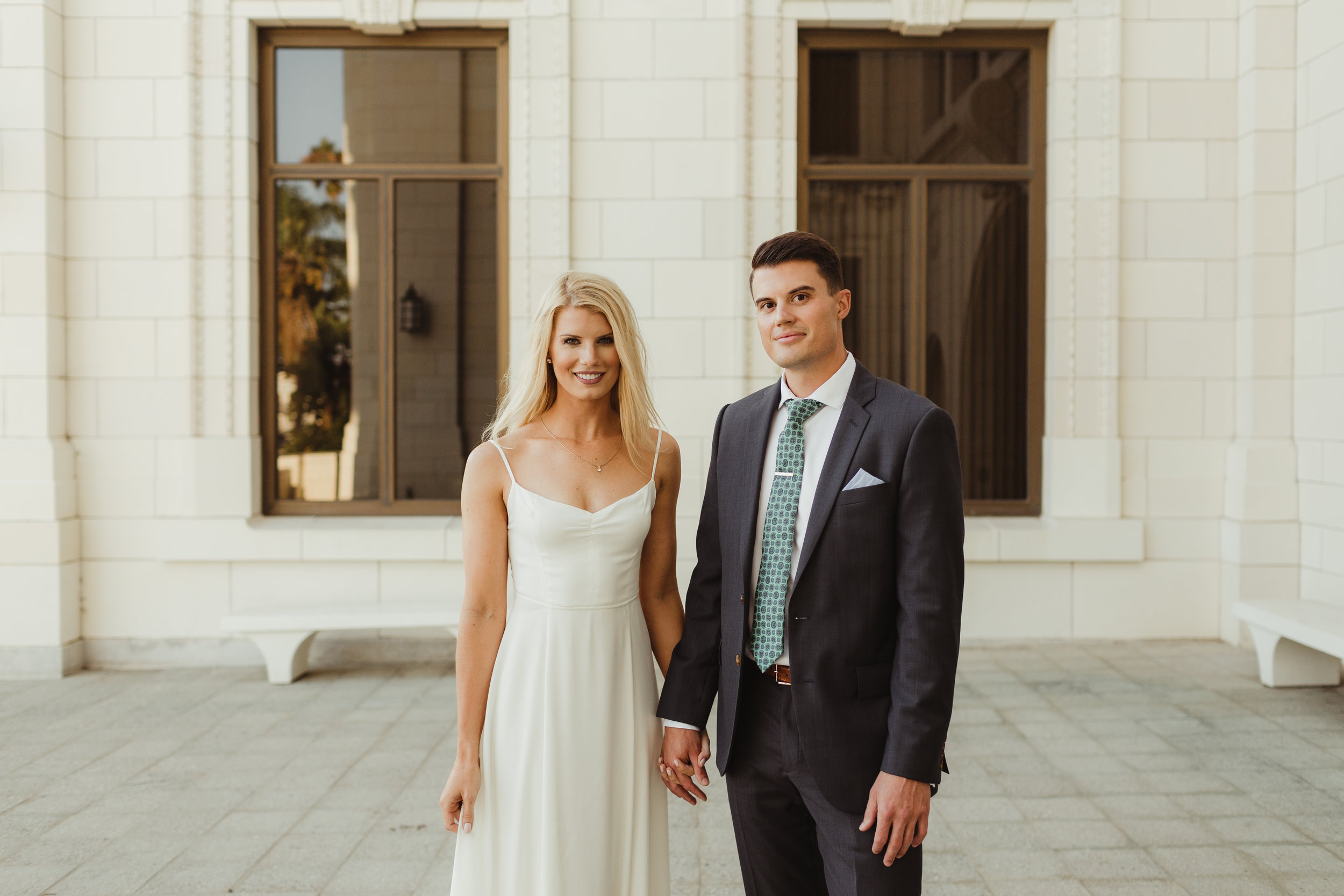 Ventura California Courthouse Engagement Shoot Photographed by Hannah Costello