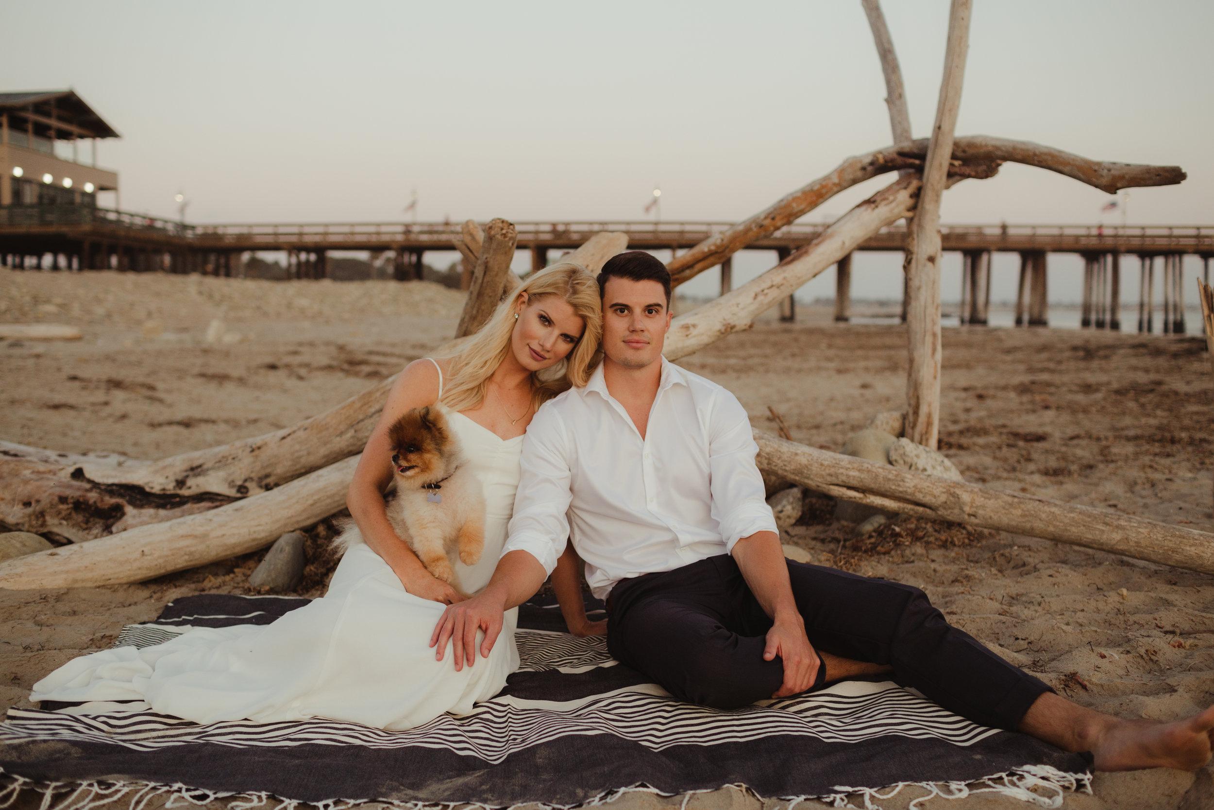 Ventura California Beach Engagement Shoot Photographed by Hannah Costello