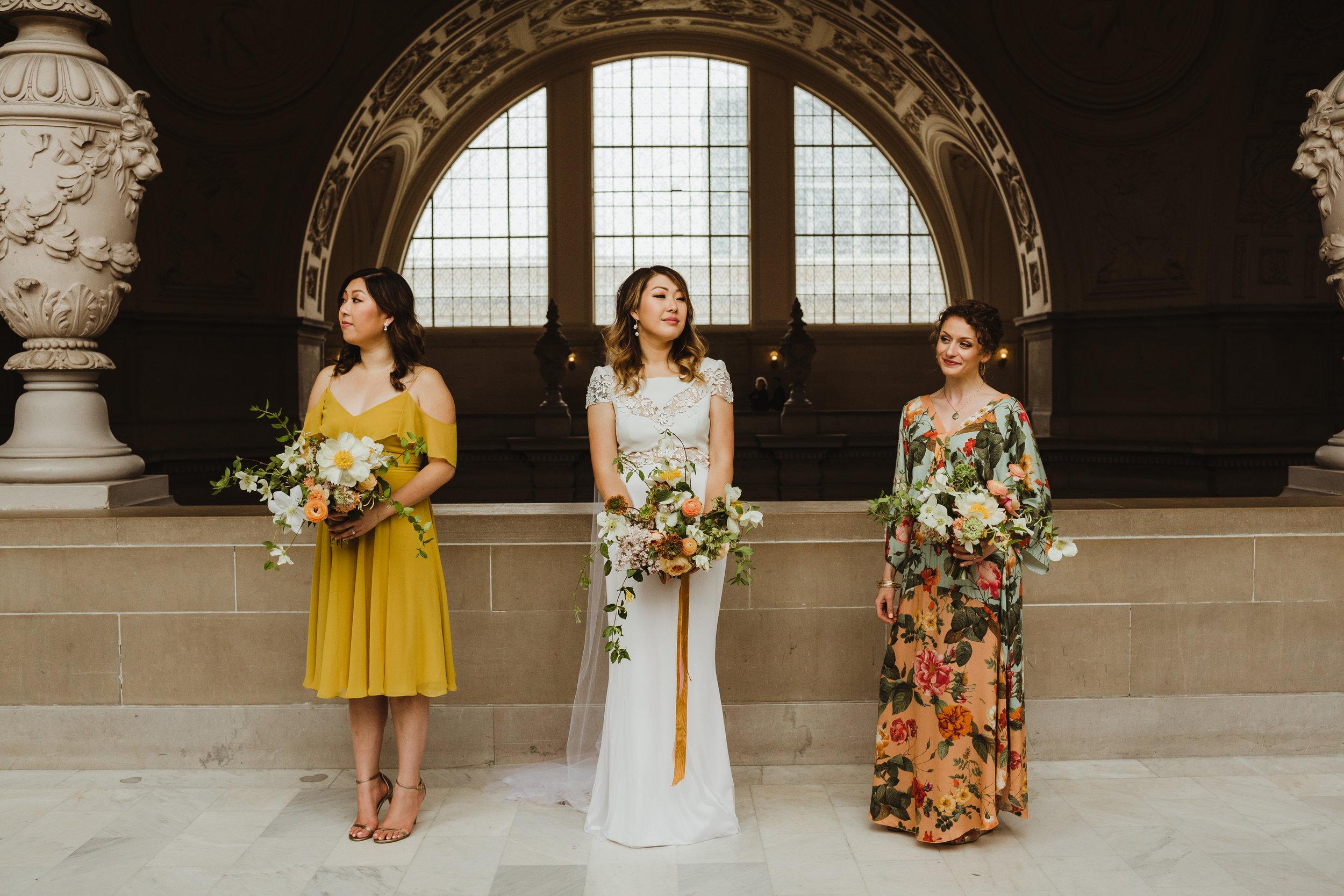 San Francisco City Hall Wedding Photography by Hannah Costello